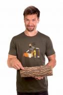náhled - Dřevorubec pánské tričko