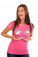 náhled - Kozy růžové dámské tričko