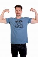 náhled - Alfasumec modré pánské tričko