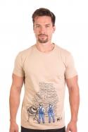náhled - Zedníci hnědé pánské tričko