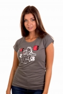 náhled - Lokomotiva dámské tričko