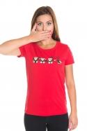náhled - Opice červené dámské BIO tričko