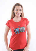 náhled - Error 501 červené dámské tričko