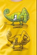 náhled - Zapnuto vypnuto žluté dámské tričko