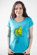 náhled - Zmizík modré dámské tričko