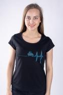 náhled - Coffee help černé dámské tričko