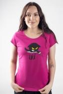 náhled - Čičina fuchsiové dámské tričko