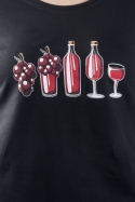 náhled - Evoluce červeného vína dámské tričko