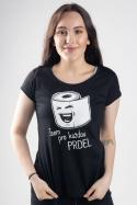náhled - Prdel černé dámské tričko