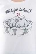 náhled - Miluju tulení bílé dámské tričko