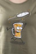 náhled - Čepice khaki dámské tričko