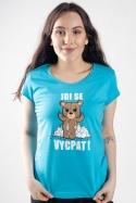 náhled - Jdi se vycpat modré dámské tričko