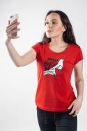 náhled - Holubitchka červené dámské tričko