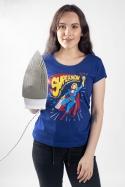 náhled - Supermom modré dámské tričko