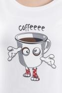 náhled - Zombie kafe bílé dámské tričko