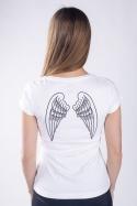 náhled - Křídla bílé dámské tričko