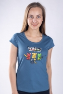 náhled - Madvídci modré dámské tričko