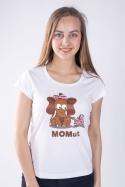 náhled - Momut bílé dámské tričko