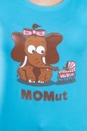 náhled - Momut tyrkysové dámské tričko