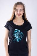 náhled - Zaměstnanec měsíce černé dámské tričko