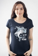 náhled - Žraločice modré dámské tričko