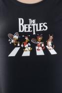 náhled - Beatles černé dámské tričko