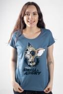 náhled - Čivava modré dámské tričko