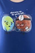 náhled - Diagnóza modré dámské tričko