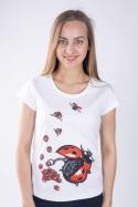 náhled - Ladybird factory bílé dámské tričko