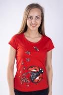 náhled - Ladybird Factory červené dámské tričko