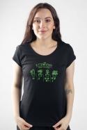 náhled - Kytkovrah černé dámské tričko
