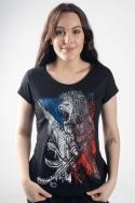náhled - Hokejový lev černé dámské tričko