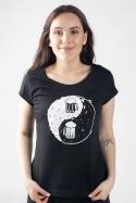 náhled - Jin Jang pivo černé dámské tričko