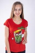 náhled - Nakládačka červené dámské tričko