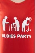 náhled - Oldies party červené dámské tričko