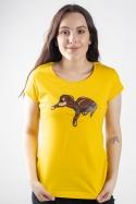 náhled - Spící pes žluté dámské tričko