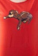 náhled - Spící pes červené dámské tričko