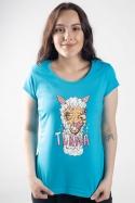 náhled - Tlama modré dámské tričko