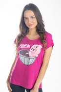 náhled - Ve formě fuchsiové dámské tričko