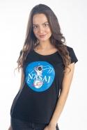 náhled - Nasaj černé dámské tričko