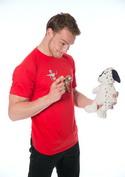 náhled - Kostlivec červené pánské tričko