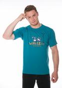 náhled - Bezdrát modré pánské tričko
