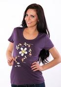 náhled - Má mě rád fialové dámské tričko