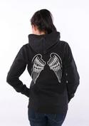 náhled - Křídla dámská mikina na zip – záda