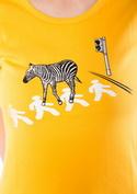 náhled - Zebra žluté dámské tričko