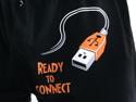 náhled - USB připojení - černé pánské trenky