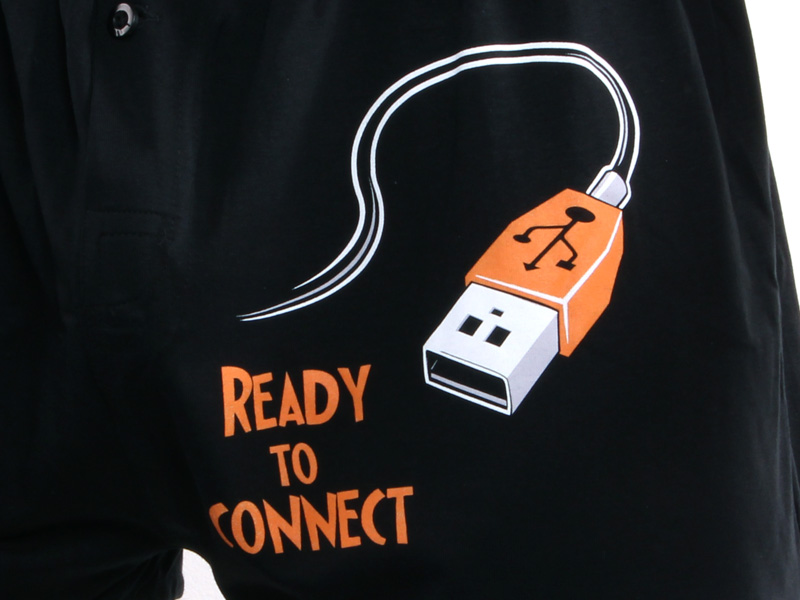 ... náhled - USB připojení - černé pánské trenky ... 5faa0453fc