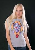 náhled - Láska až za hrob šedé dámské tričko