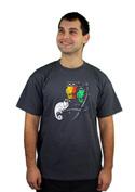 náhled - Těžká volba šedé pánské tričko