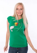 náhled - Těžká volba zelené dámské tričko